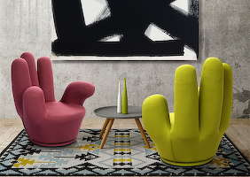 Armchairs «BONJOUR» in the interior 0