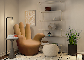 Armchairs «BONJOUR» in the interior 1
